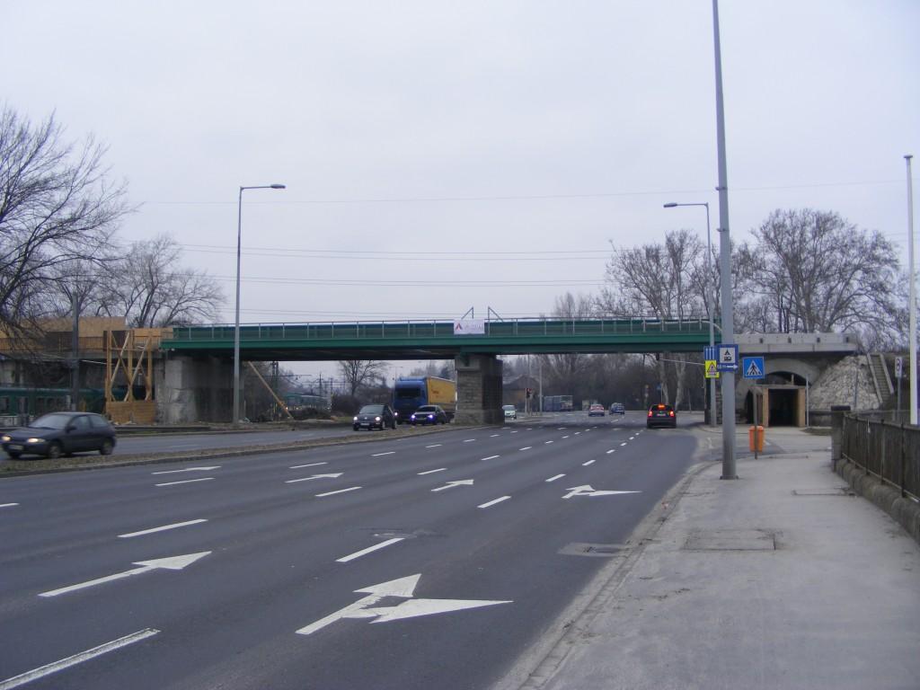 Szentendrei út, új vasúti híd